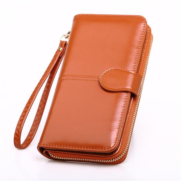 Oil wax leather wallet