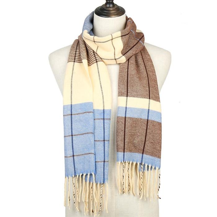Soft Warm Plaid Cashmere Scarves