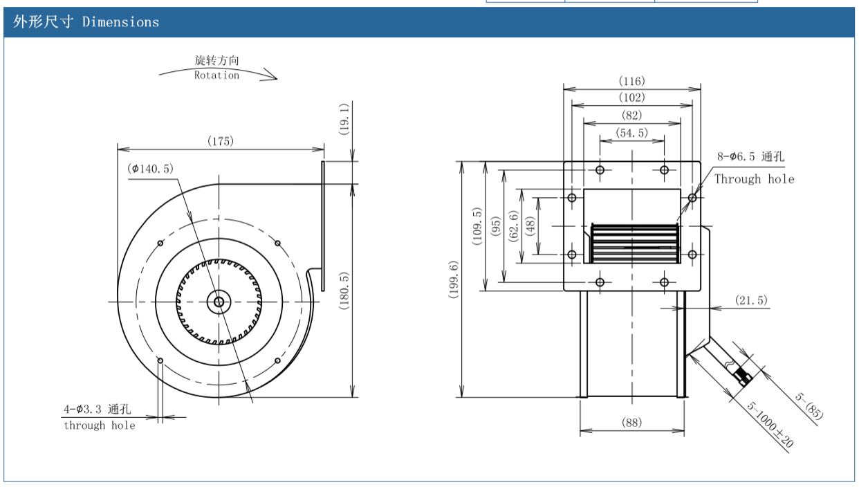 centrifugal fan noise reduction