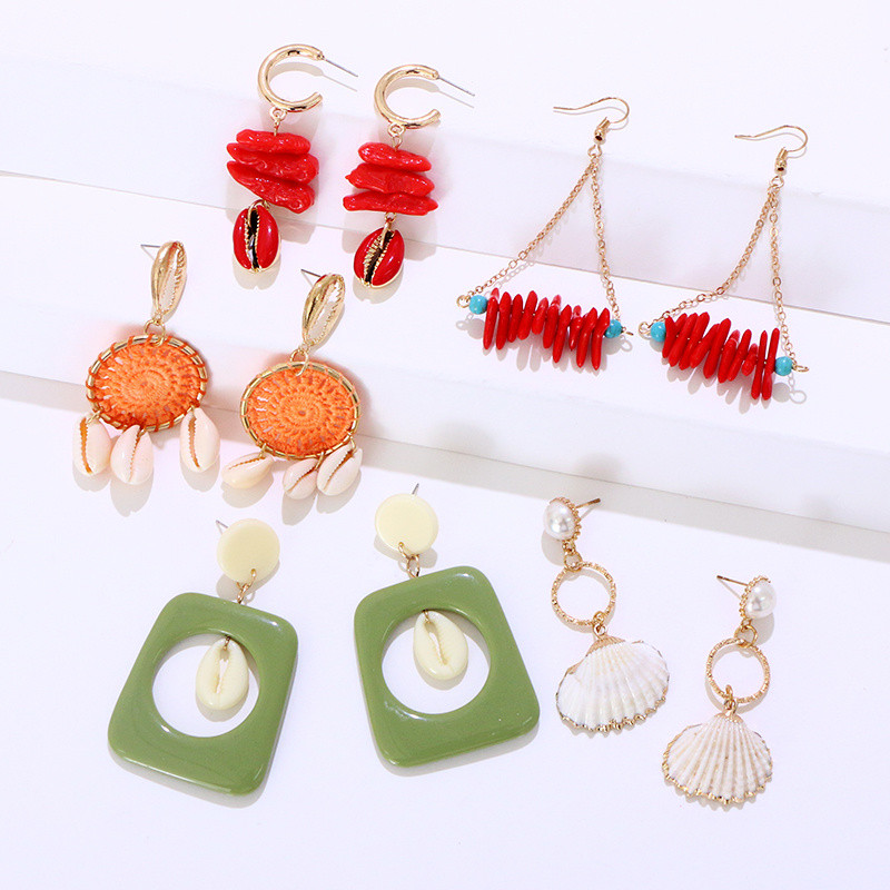 Coral Shell Earrings