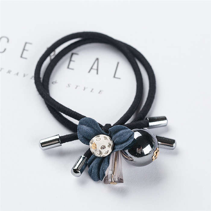 Clover Gray Ball Elastic Hair Bands