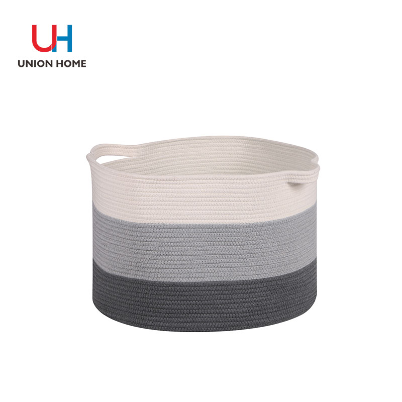 Druable and long lasting cotton rope laundry bin