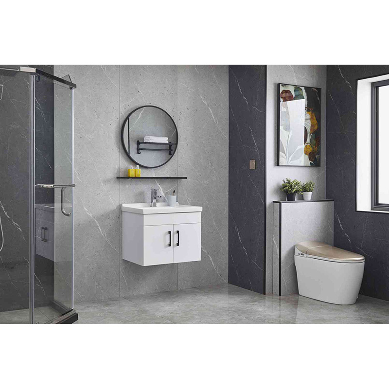 Plywood bathroom vanity cabinet
