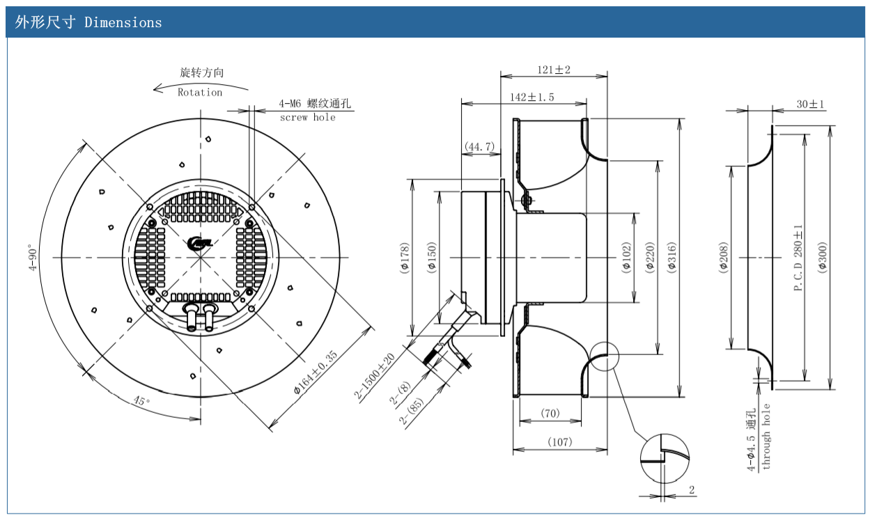 centrifugal fan installation