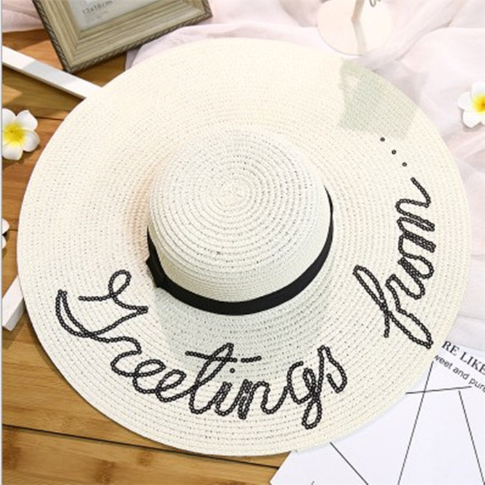 Letters straw hat