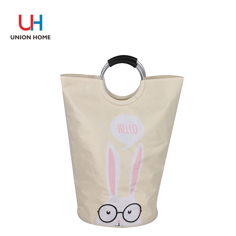 polyester double layer printed pattern laundry bag