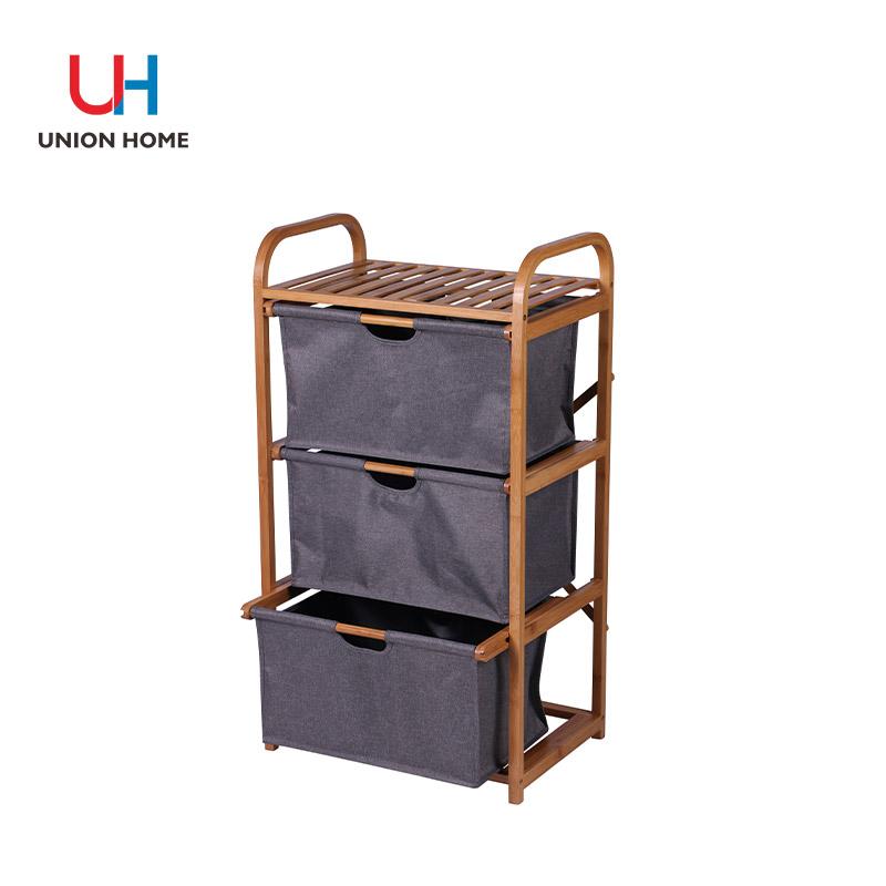 Multi level multi-functional bamboo rack