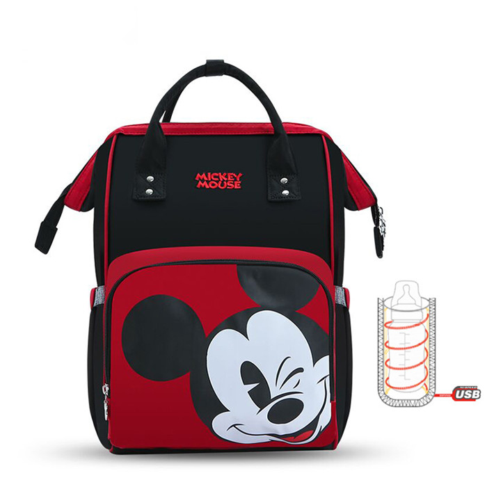 Large Capacity Diaper Backpack Red