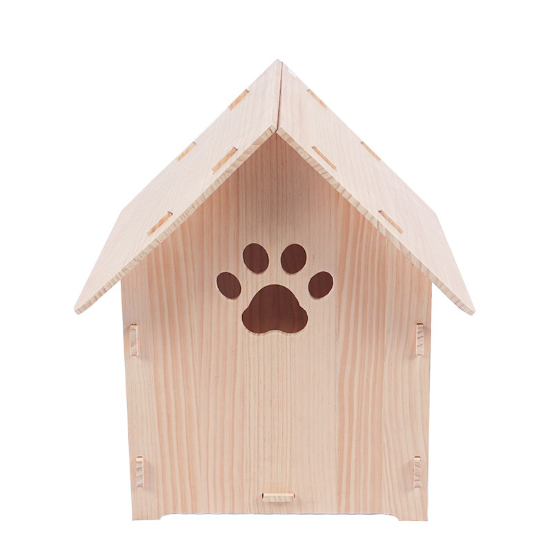 Solid wood dismantling cat house pet supplies