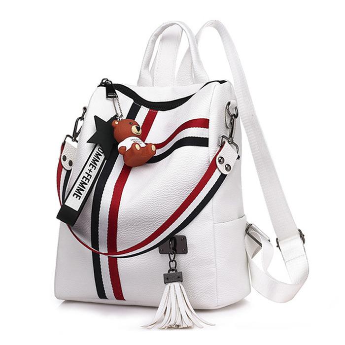 Fashion ladies zipper backpack