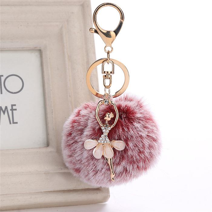 Faux Rabbit Hair Keychain