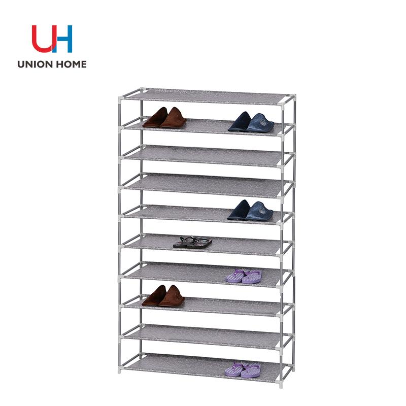 Powder coated iron tube layer extra nonwoven shoe shelf