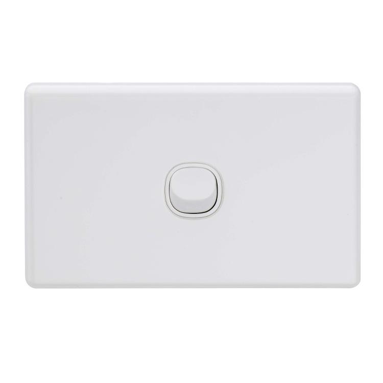 SAA Australia 6Gang 16A White Horizontal Classic Switch