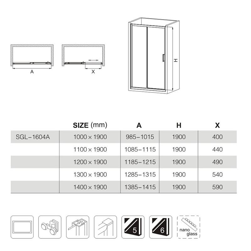 frameless sliding shower doors manufacturers