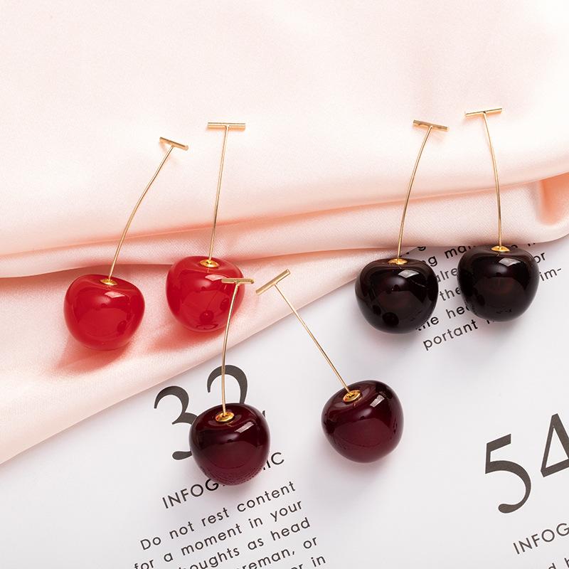 Creative cherry earrings