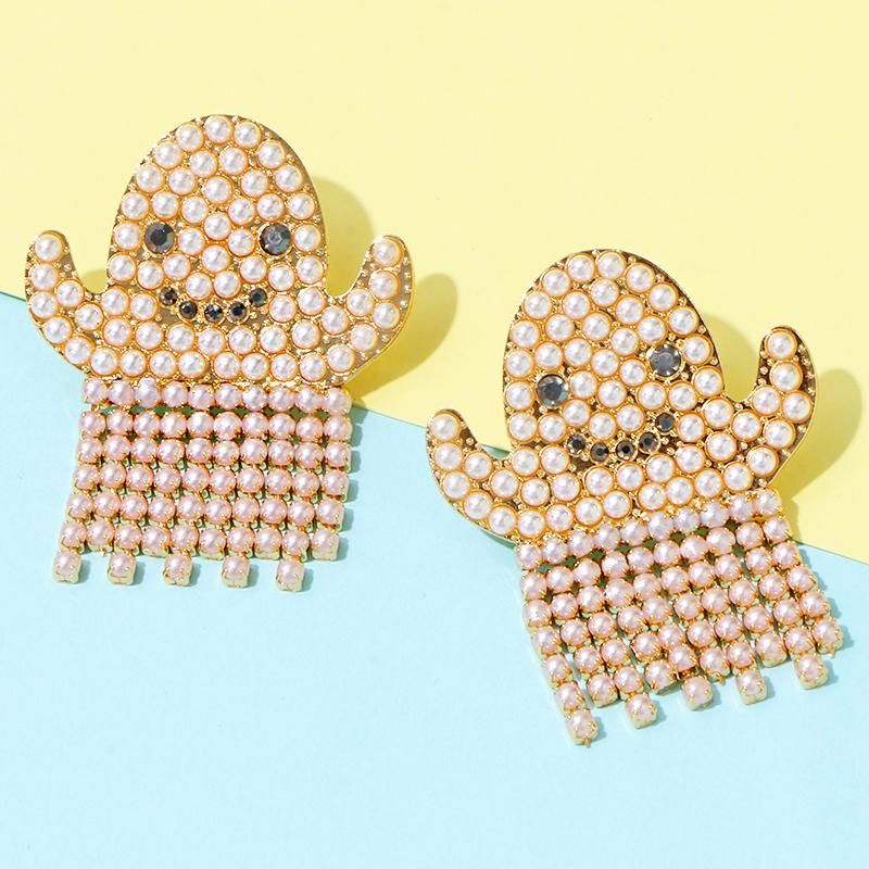 Ghost Pearl Earrings