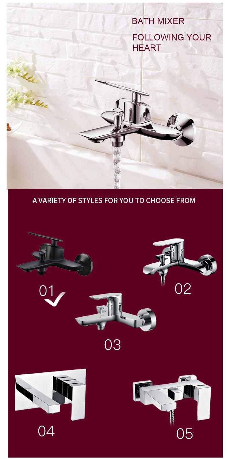 Black Bath Shower Mixer manufacturers