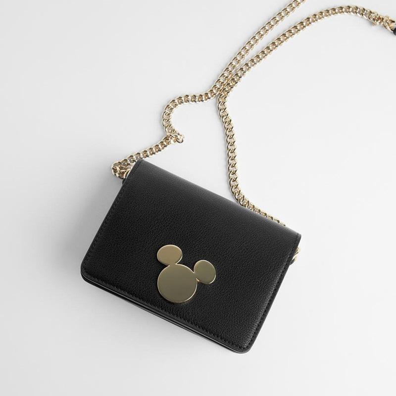 Soft leather printing single shoulder bag