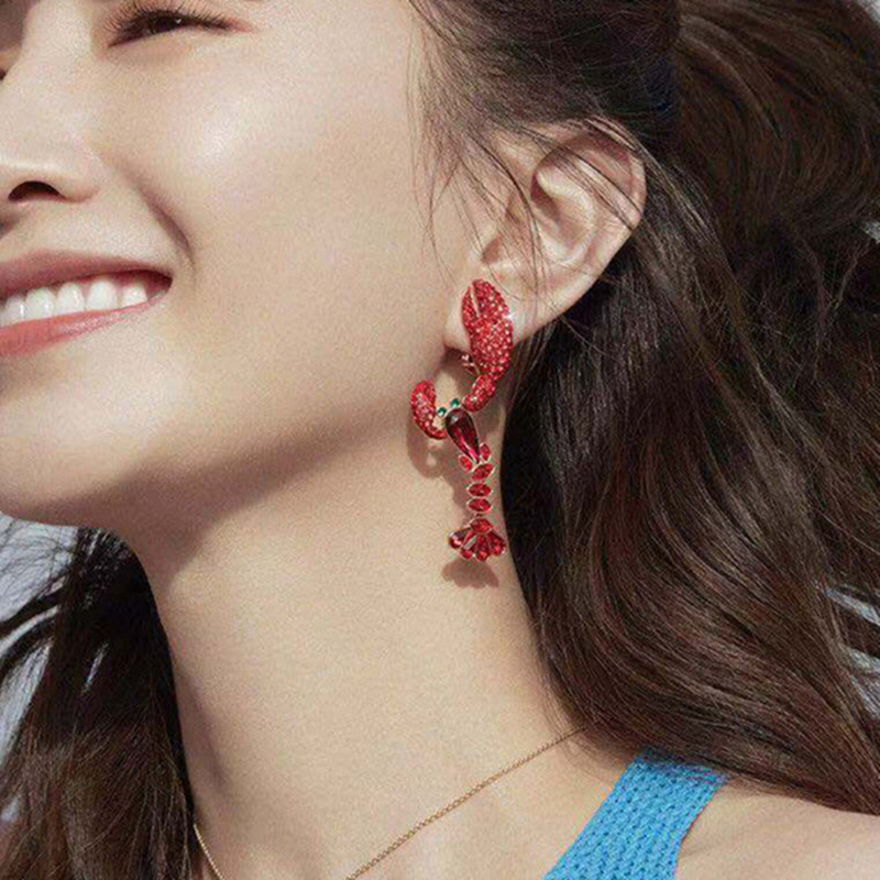 Diamonds Lobster Earrings  2