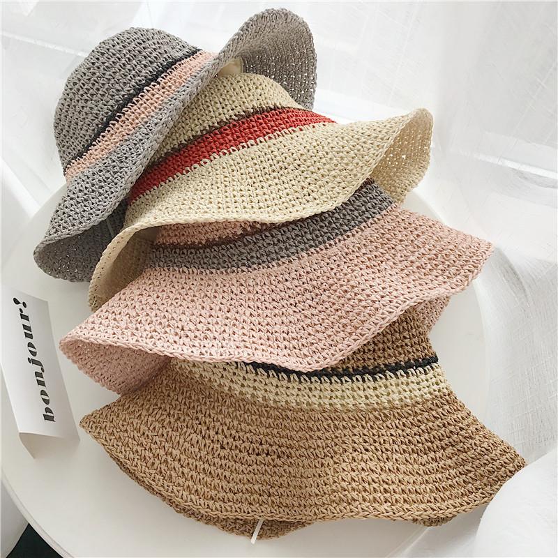Outdoor beach stripe knit cap