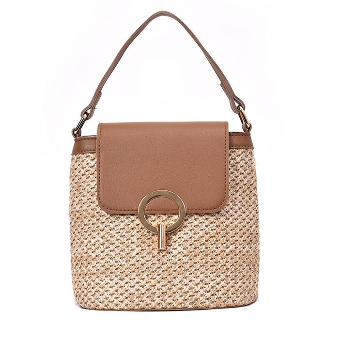 Small Straw Bucket Bags