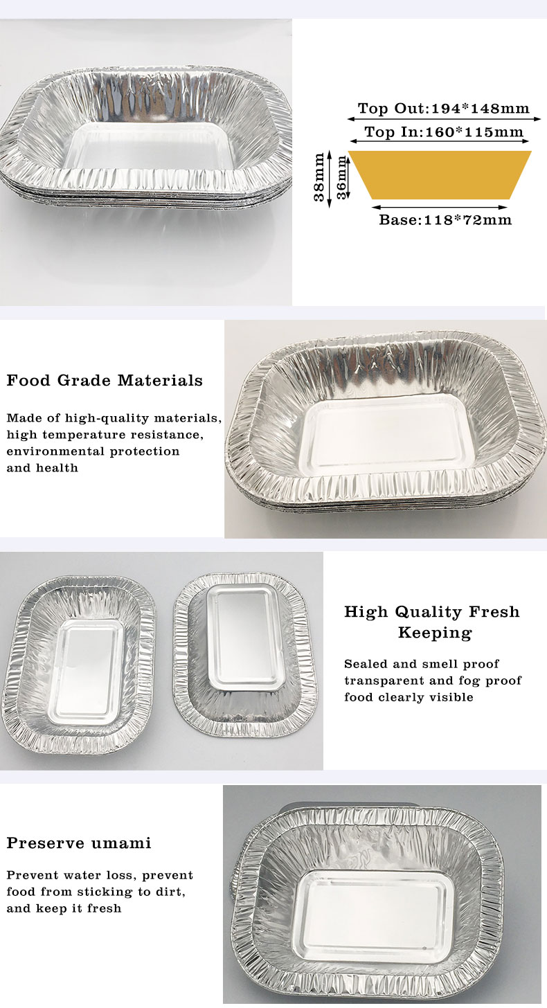 Clean aluminum foil tray
