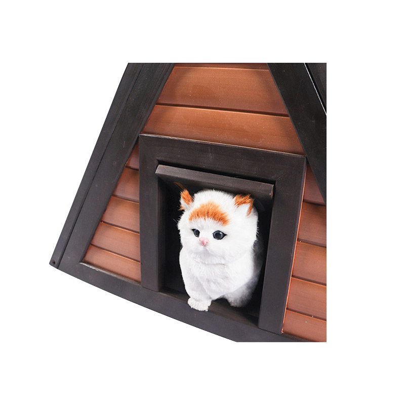 Enclosed wooden plastic triangle cat litter pet product