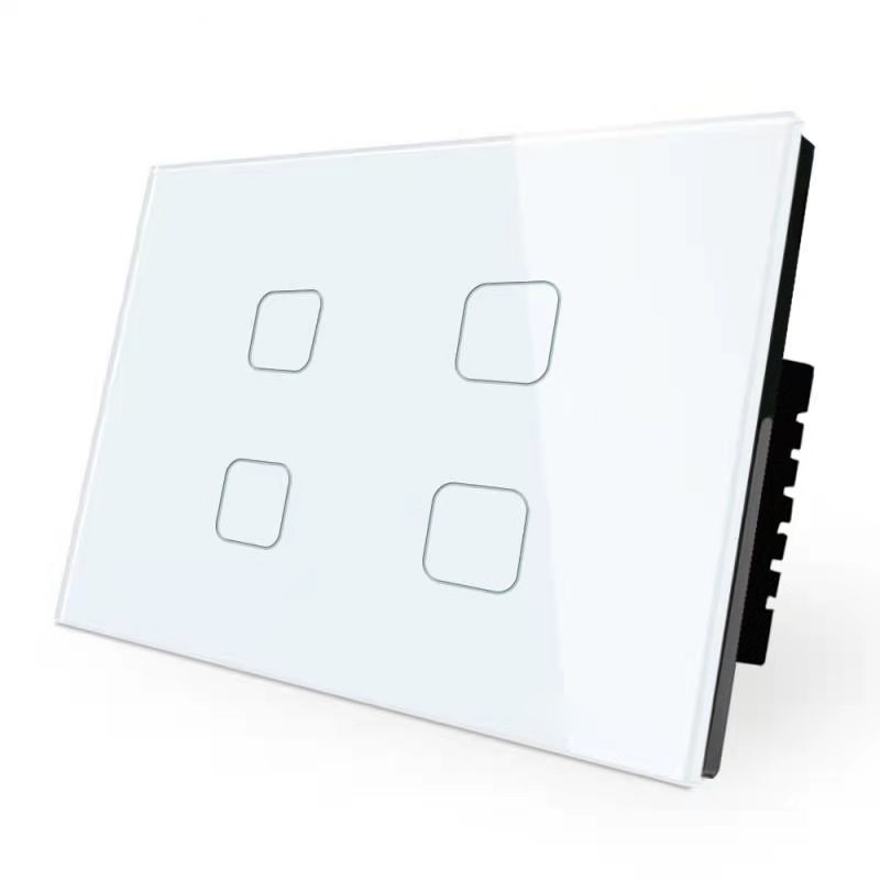 3 Gang 2 Way Electric Touch Wifi Dimmable Wall Lamp Bathroom Light Tuya Switch