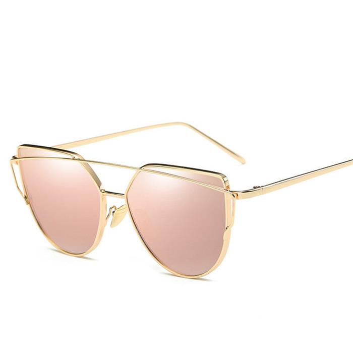 Rose Gold Mirror Sunglasses