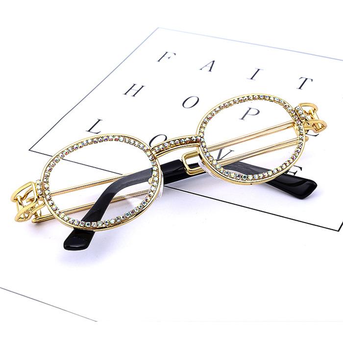 Vintage Small Round Diamond Sunglasses