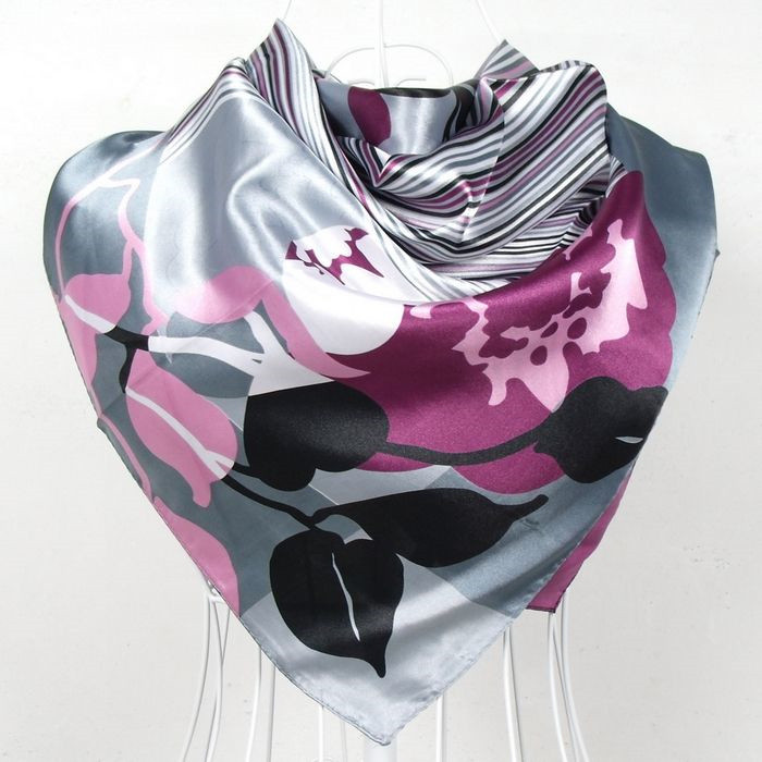 Elegent Women Large Square Silk Scarf