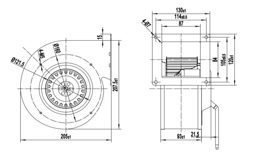 centrifugal blower fan wheel fan impeller