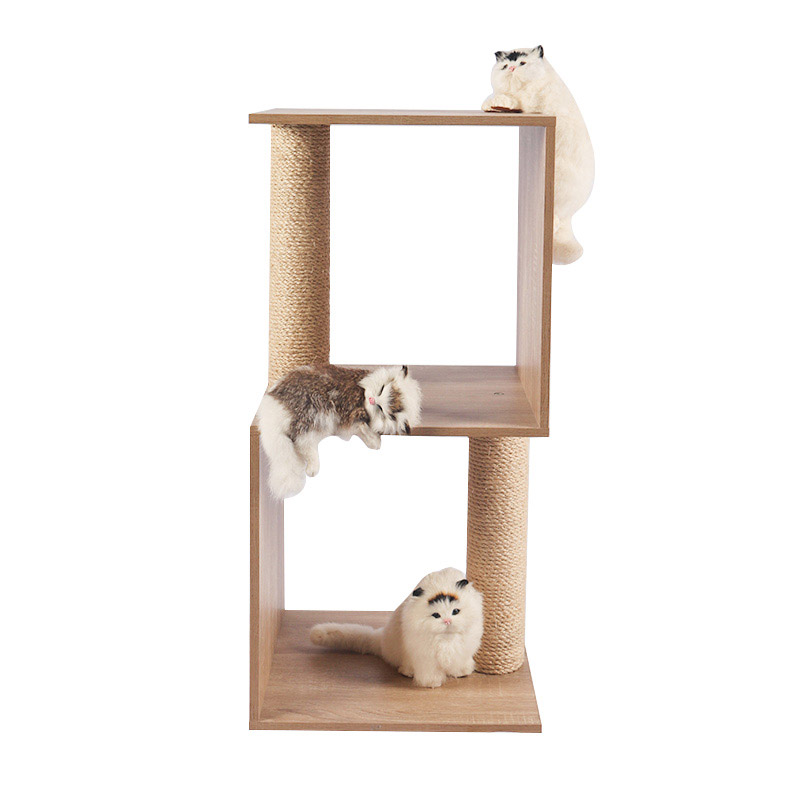 Small cat litter with sisal pole pet product