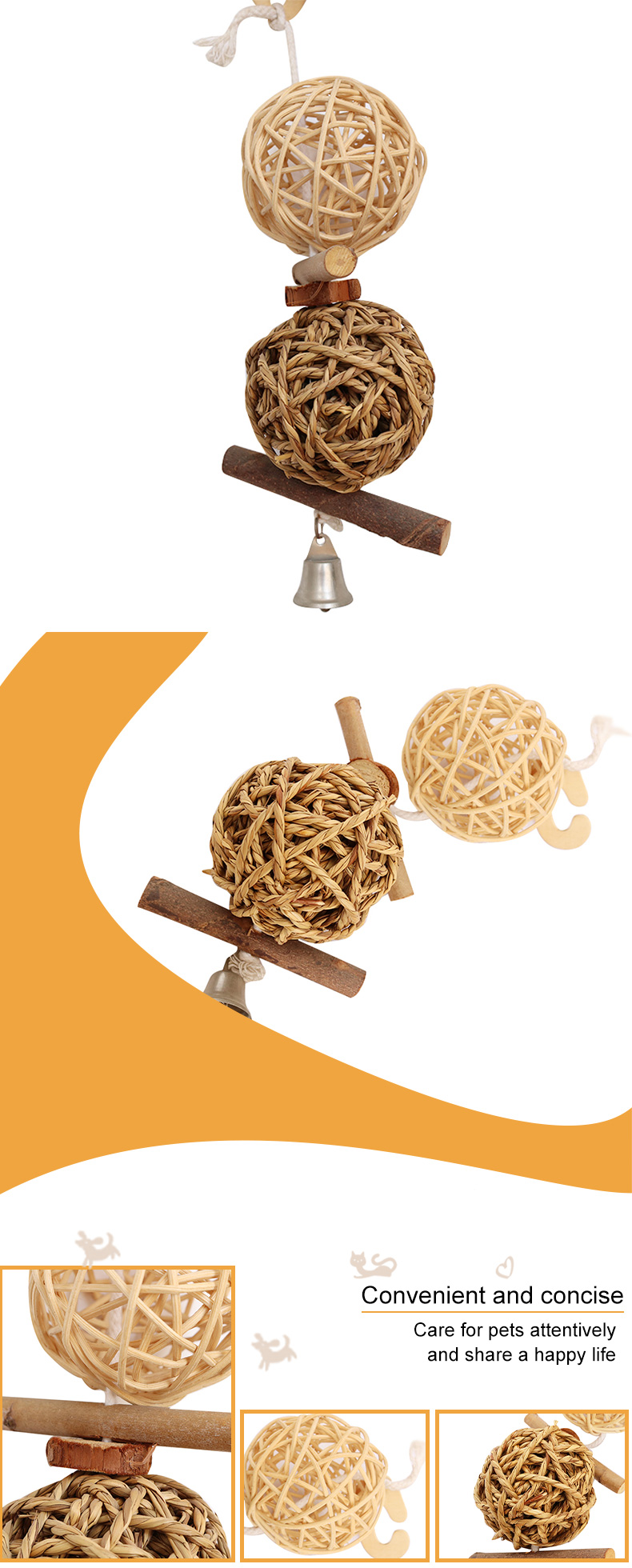 rattan weaving toys pet supplies