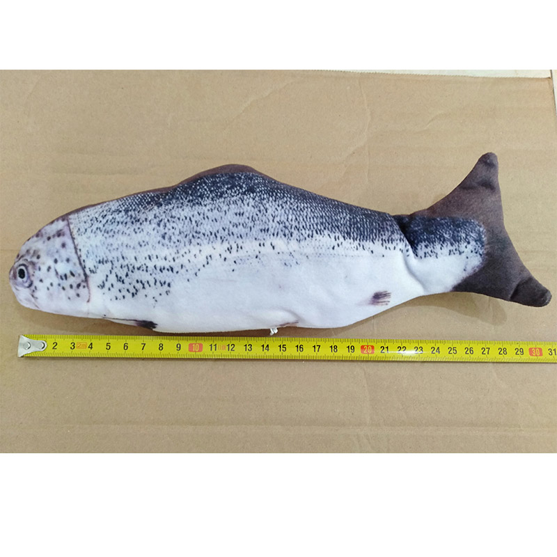 Simulated fish toy salmon