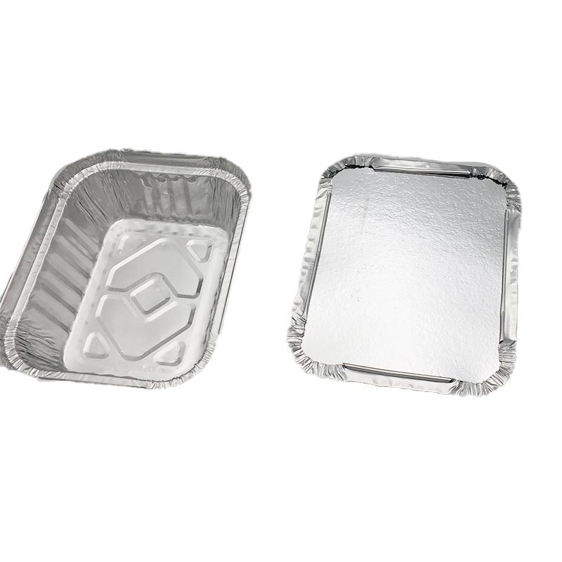 Rectangular aluminum foil tray