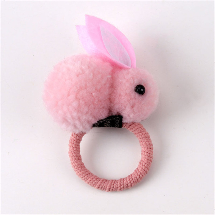 Rabbit hair ring female tie rope