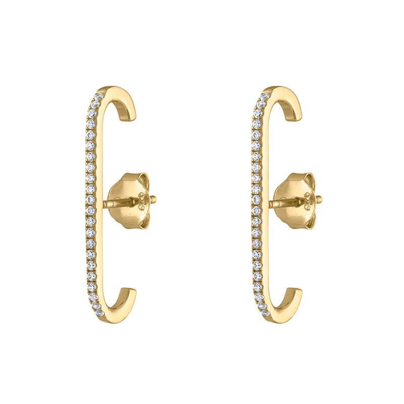 Single Row Crystal Zircon stud Earrings