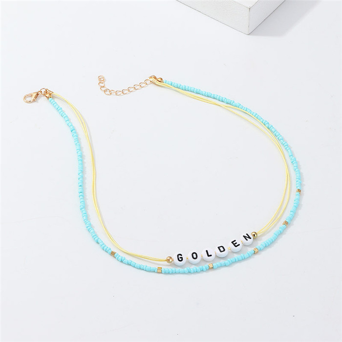 String Beaded Necklace