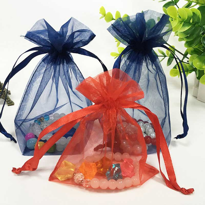 Transparent organza bag for candy