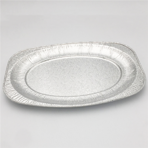 aluminium foil container in oven