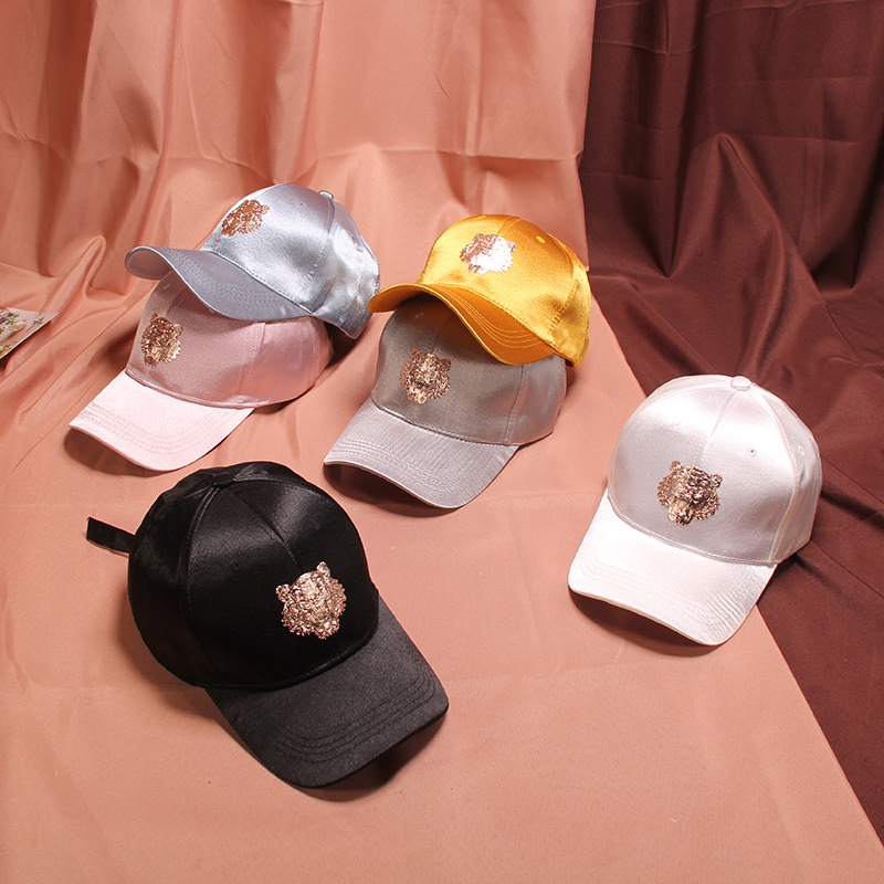 Metal foil tiger cap