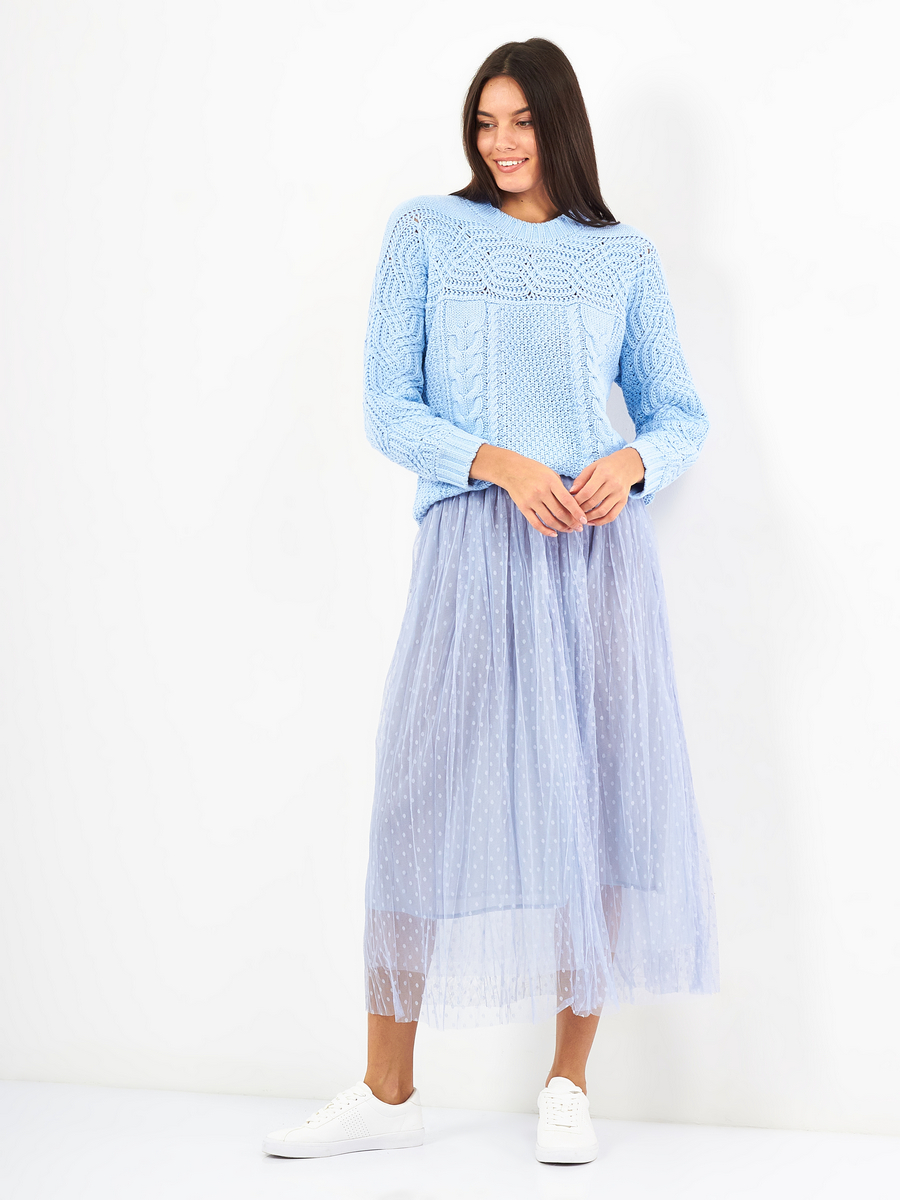 Tired Mesh Dot Skirt
