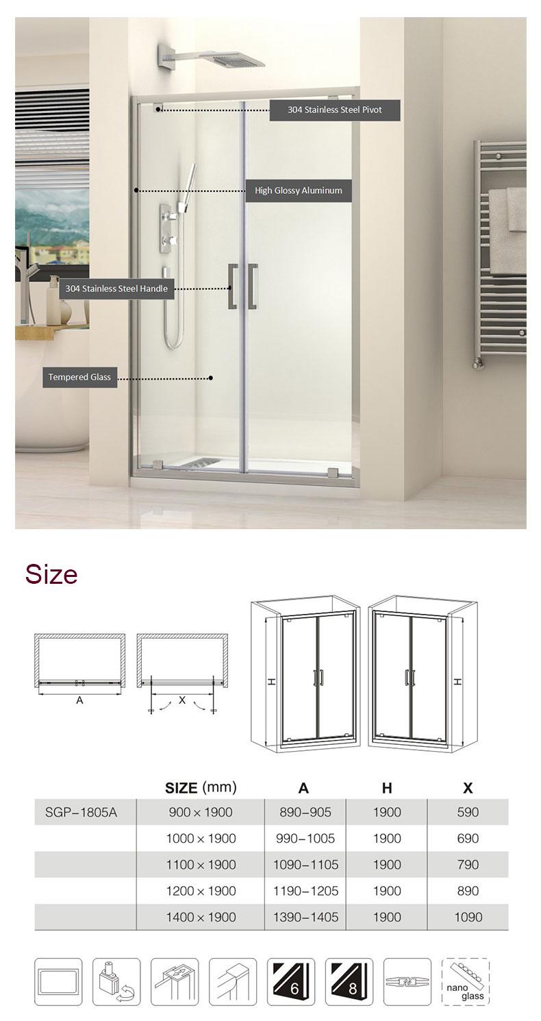 sliding glass shower doors manufacturers