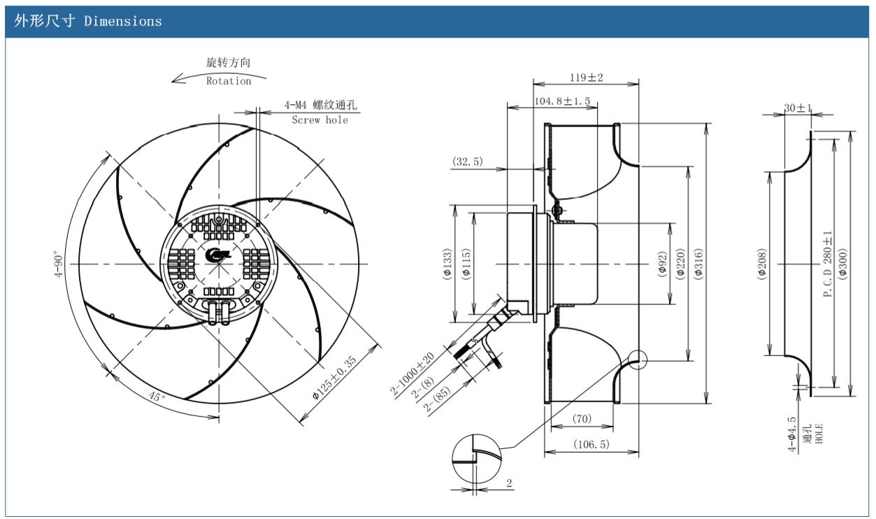 centrifugal fan impeller wheels