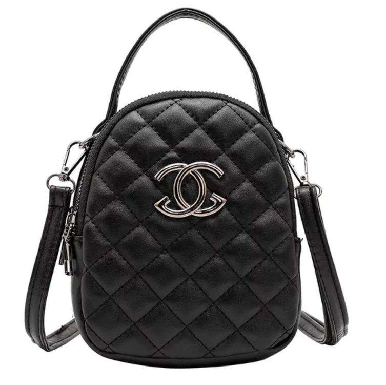 Black joker single shoulder bag