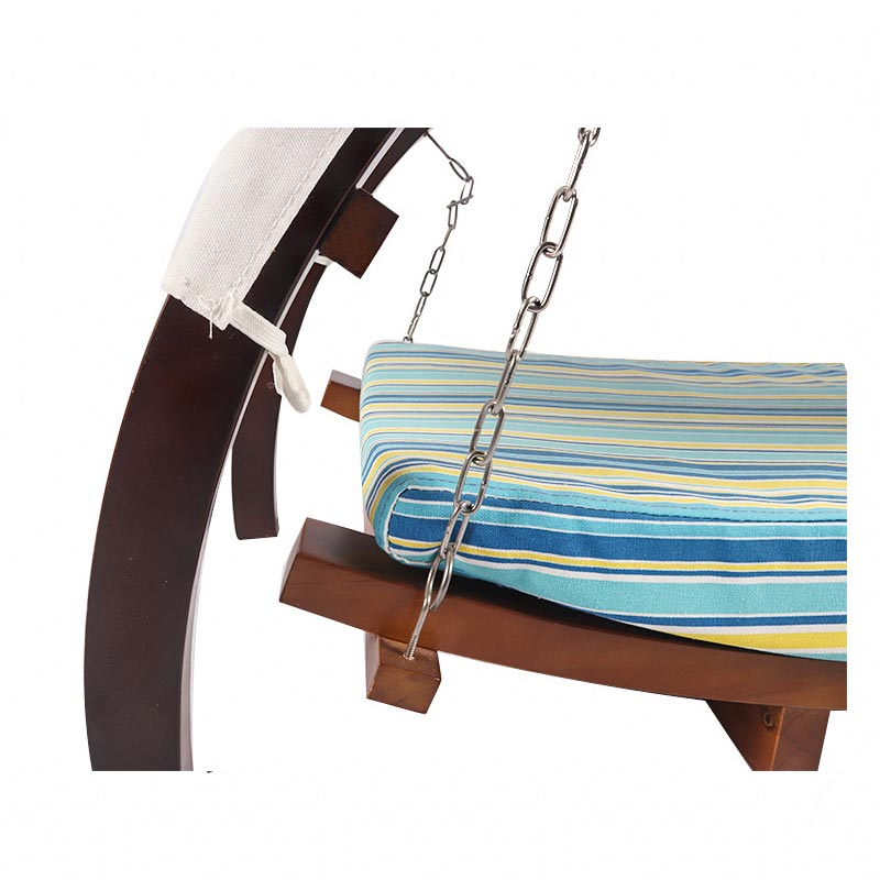 Curved solid wood cat hammock pet supplies