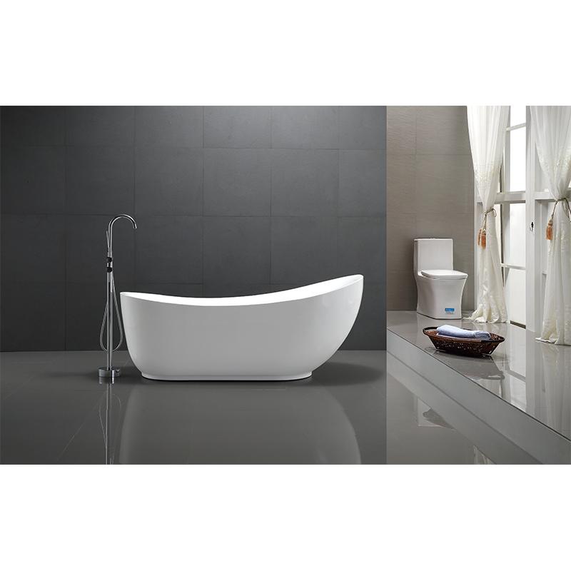 55 inch freestanding soaking tub