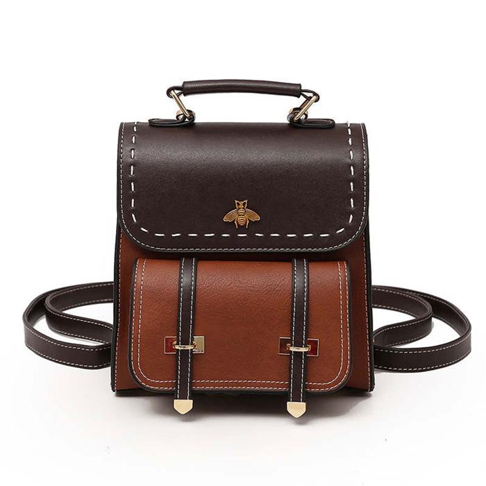 Pu Leather Women Backpack