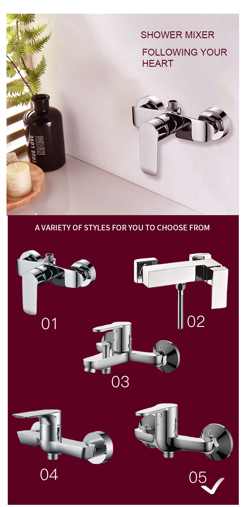 shower mixer valve wholesale